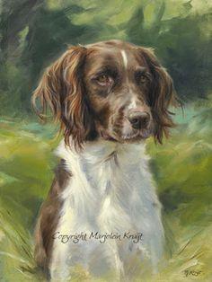 kleine münsterlanländer heidewachtel portretopdracht schilderij honden portret marjolein kruijt
