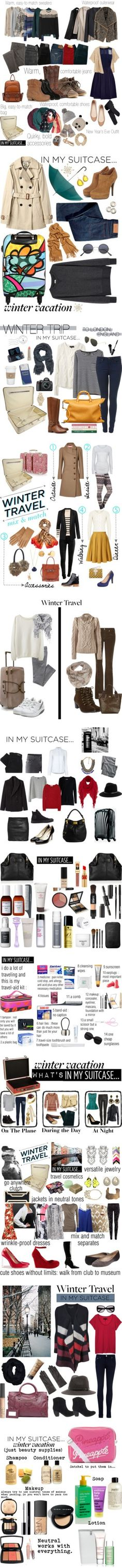 """Winter Travel"" by helenmoses ❤ liked on Polyvore"