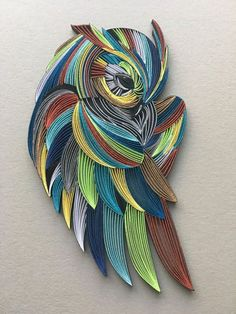 Quilled paper owl - Papi - Quilling Deco Home Trends Quilled Paper Art, Paper Owls, Paper Quilling Designs, Quilling Paper Craft, Quilling Patterns, Arte Quilling, Origami Tattoo, Owl Crafts, Paper Crafts