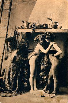 Witches' Sabbat in Paris, ca. 1910 - Vintage Witch - The Mystic's Emporium on Etsy