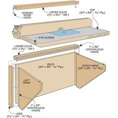 Quick and easy router table plans for the shop pinterest space saving router table woodsmith tips greentooth Images