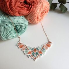 Items similar to Summer 2018 - geometric and colorful bib necklace. Jewelry for woman on Etsy Tassel Necklace, Crochet Necklace, 14 Carat, Bijoux Diy, Dame, Beading Ideas, Strasbourg, Beads, Motifs