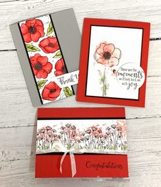 12 Beautiful Cards You Can Make Easily with the New Peaceful Poppies – Jackie Bolhuis, Stampin' Up! Stampin Up Weihnachten, Poppy Cards, Diy And Crafts, Paper Crafts, Card Making Tutorials, Stamping Up Cards, Up Girl, Flower Cards, Flower Paper