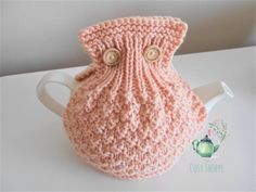 BUTTON-UP Tea Cosy - Snazzy handmade Peach Open Top Tea Cosy/Cozy with Button Closure - Ready to Ship by TheCosyShoppe on Etsy How To Order Coffee, Scottish Thistle, Cream Tea, Tea Cozy, Yarn Colors, Peach Colors, Greeting Cards Handmade, Cosy, Hand Knitting