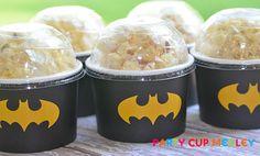Batman Birthday Party-Ice Cream Cups-Mini Popcorn Favor Box-Set of 6 Batgirl Party, Lego Batman Party, Batman Birthday, Superhero Birthday Party, 4th Birthday Parties, Boy Birthday, Birthday Ideas, Batman Party Supplies, Cream Cups