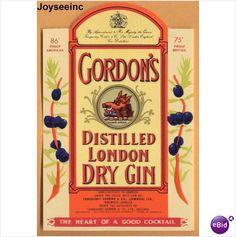 GORDON'S Distilled London DRY JAMAICA GIN LABEL