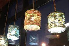 SALE 10% OFF - Ceiling Light Lighting Blue Pendant Light Chandelier Pendant Lighting Ceiling Light Hanging Lampada Coffee Filter Art