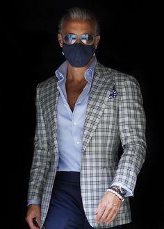 Blazer Outfits Men, Stylish Mens Outfits, Blazer Fashion, Business Casual Men, Business Fashion, Men Casual, Older Mens Fashion, Mens Fashion Suits, Manish Fashion