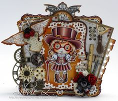 La-La Land Crafts new release - TOP HAT STEAMPUNK MARCI ♥