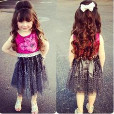 I love this little girl hairstyle. Hopefully Paisley's hair will be this long in no time.