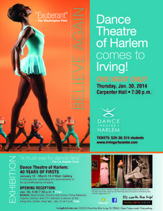 The Company and Dance Theatre of Harlem:40 Years of Firsts @irvingartcenter #ballet #dance #exhibition #art #irving #texas