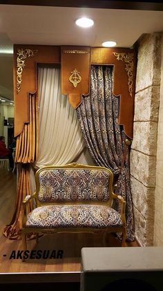 Luxury Curtains, Home Curtains, Curtains With Blinds, Valances, Large Window Treatments, Window Coverings, Dining Room Drapes, Cornice Design, Curtain Designs