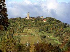Die Starkenburg und der Schlossberg (Heppenheim)