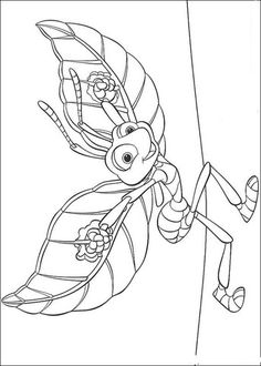 Flik is ready to fly Coloring page