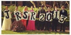 "Prom picture idea.. But spell out ""PROM!"" For our five."