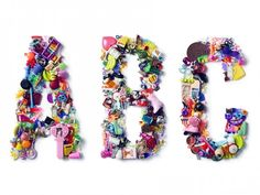 Toy Typography: Colorful Letters Made Out of Toys, Charms, and Knickknacks | Jeannie Huang