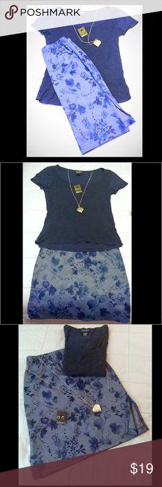 Selling this **SALE**Blue Floral Print Skirt by Ultra Flirt (S) on Poshmark! My username is: simonsgirl78. #shopmycloset #poshmark #fashion #shopping #style #forsale #Ultra Flirt (Macy's) #Dresses & Skirts