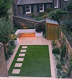 9 ideas for small, cheap and low maintenance gardens Create a beautiful and low maintenance garden incorporating river rock; landscaping with a dry stream and using river rock to accent your garden. River Rock Landscaping, Landscaping With Rocks, Backyard Landscaping, Front Gardens, Outdoor Gardens, Low Maintenance Backyard, Lawn Edging, Garden Pictures, Garden Pool