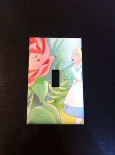 Alice in Wonderland Switchplate by Hippiemysticstudio on Etsy, $5.00