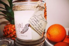 Add a little bit citrus to your life. This soy wax candle is sure to delight! Hemelsoywaxcandles visit my etsy shop Soy Wax Candles, Candle Wax, My Etsy Shop, Apple, Life, Apples