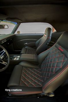 custom interior for 69 camaro Camaro Interior, Mustang Interior, Car Interior Upholstery, Automotive Upholstery, Automotive Tools, Custom Car Interior, Truck Interior, Interior Ideas, Luxury Interior