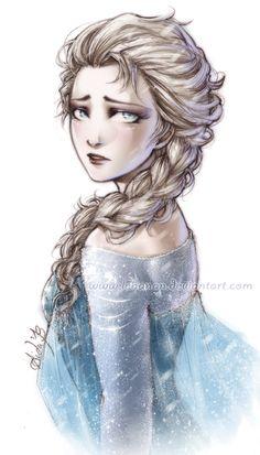 Elsa from lehanan.deviantART.com on @deviantART #frozen #disney #fanart