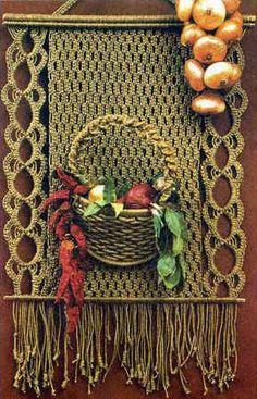 Макраме. Декоративное панно для кухни