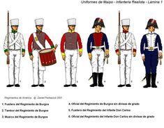 Battle of Maipú; Royalist Infantry- Regiments de Burgos & del Infante Don Carlos.