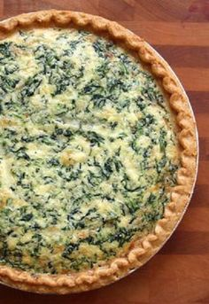 Spinach & Gruyère Quiche TESTED & PERFECTED RECIPE – This quiche, with heavy cream and Gruyère, is insanely rich and delicious. It's a perfect choice for brunch. Breakfast Quiche, Breakfast Dishes, Breakfast Recipes, Quiches, Spinach Quiche Recipes, Chopped Spinach, Spinach Bacon Quiche, Vegetable Quiche, Vegetarian Recipes