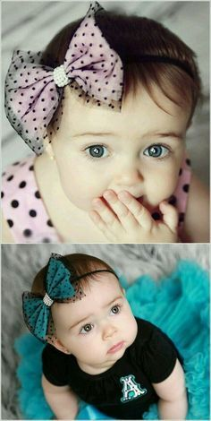 How About a Cute Bow Headband for Your Baby Girl? Short Hair Accessories, Baby Girl Hair Accessories, Wedding Hair Accessories, Diy Baby Headbands, Diy Headband, Baby Bows, Making Hair Bows, Diy Hair Bows, Fabric Bows