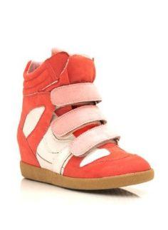 Colorblock Wedge Sneakers
