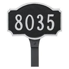 Montague Metal Petite Address Sign Lawn Plaque - PCS-0053P1-L-SS