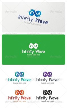 Infinity Wave Logo Template — Vector EPS #infinite #finance • Available here → https://graphicriver.net/item/infinity-wave-logo-template/5218900?ref=pxcr