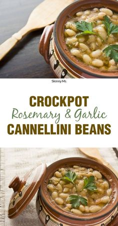 Crockpots are simply magical. In a few hours, they cook easy meals that taste complex. See for yourself what makes the appliance so awesome with this recipe for Crockpot Rosemary & Garlic Cannellini Beans.