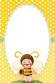 """Cute bees"": ""Honey Bee"" letter pad, designed by Abelhinha Bee Clipart, Frame Clipart, Borders For Paper, Borders And Frames, Bee Free, Crafts For Kids, Arts And Crafts, Cute Frames, Baby Clip Art"