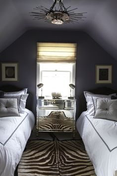 A super cozy guest room at the beach in Sag Harbor...  www.sydneymaag.com