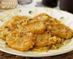 patatas a la importancia Spanish Food, Meat, Chicken, Vegetarian, One Pot Dinners, Vegetables, Meals, Desserts, Healthy Recipes