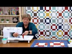"Make a ""Ground Cover"" Quilt with Jenny Doan of Missouri Star Quilt Co. Missouri Star Quilt Pattern, Missouri Quilt Tutorials, Star Quilt Patterns, Star Quilts, Easy Quilts, Quilting Tutorials, Quilt Blocks, Sewing Tutorials, Jenny Doan Tutorials"
