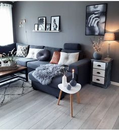 70 Stunning Grey White Black Living Room Decor Ideas And Remodel – Home Design Living Room Grey, Interior Design Living Room, Home And Living, Living Room Designs, Small Living, Interior Livingroom, Kitchen Interior, Modern Living, Living Room Inspiration
