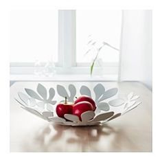 IKEA - STOCKHOLM, Bowl, white, , Fill the bowl with decorations or use it alone as a beautiful object in its own right.Soft feet stabilizes the bowl and protects the underlying surface.