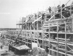 Bastion reconstruction at Fortress of Louisbourg -