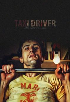 Robert De Niro in Martin Scorsese's Taxi Driver (1976). Illustration by…
