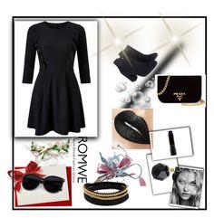 """Black set"" by amina-33 ❤ liked on Polyvore featuring Miss Selfridge, Monsoon, Prada, MAC Cosmetics and Vita Fede"