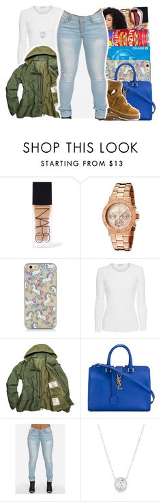 """""""Blue Bag """" by beautifulme078 ❤ liked on Polyvore featuring NARS Cosmetics, Invicta, James Perse, Yves Saint Laurent, women's clothing, women's fashion, women, female, woman and misses"""
