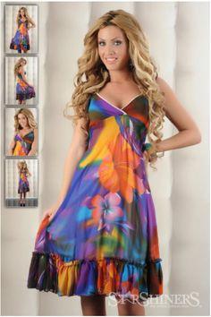 Rochie Paradise Colour Lila cu volanase la baza - Masuri S, M si L Paradise, Dresses, Fashion, Clothing, Vestidos, Moda, Fashion Styles, The Dress, Fasion