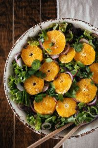 A super flavorful orange and date salad recipe from Ottolenghi's new book, Plenty More.