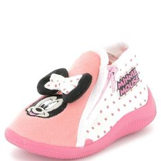 Chaussons montants 'Minnie' rose Petite fille