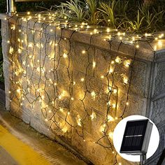 [72ft 200 Led] Solar Outdoor String Lights\ Fairy Outdoor Lighting, 8 Mode (Steady, Flash), Waterproof, Decoration for Garden, Yard, Patio, Christmas, Tree, Party, Holiday, Home (Warm White)
