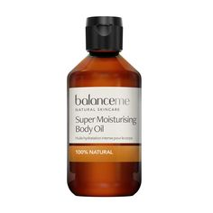#Balance Me Super Moisturising Body Oil 200ml #Balance Mes Super Moisturising Body Oil is nut-free and a firm favouite with women during pregnancy. Jojoba Oil is bursting with essential fatty acids and vitamins to keep the skin elastic and supple. Rosehip oil works to rejuvenate lack-luster skin and helps fade stretch marks and scars, whilst Neroil oil deeply hydrates and plumps parched skin. (Barcode EAN=5060131096117)