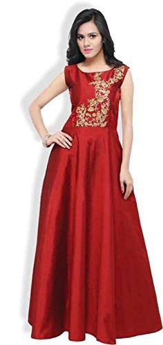 # gown-tapeta silk # size-free size upto 42 ,STYLE-EMBRODIARY Quality Dresses for Wedding Party, Festivals, Traditional Ceremonies & Casual wearing Color May Slightly Vary Due To Photographic Lighting Or Your Screen Settings. Silk Gown, Satin Gown, Satin Dresses, Buy Gowns Online, Classy Gowns, Traditional Gowns, Western Gown, Ethnic Gown, Indian Designer Outfits